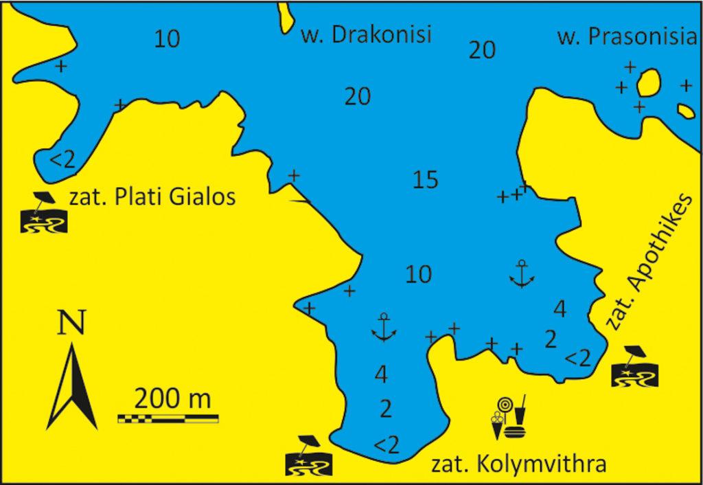 Zatoka Kolymvithra wyspa Tinos