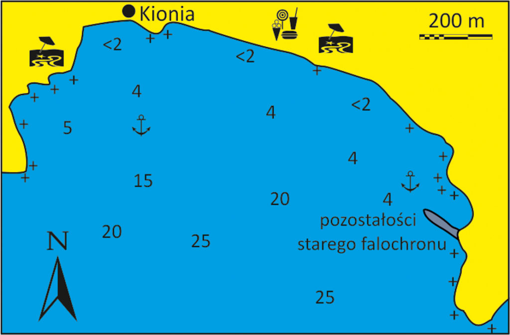 Zatoka Stavros na Tinos mapka