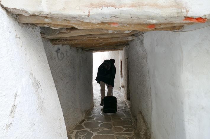 wąskie uliczki Chora Naxos