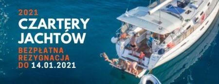 bezpłatna rezygnacja czartery jachtów pitter 2021