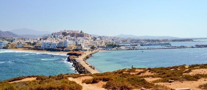 Grobla w Naxos