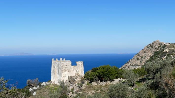 Wieża obronna na wyspie Naxos