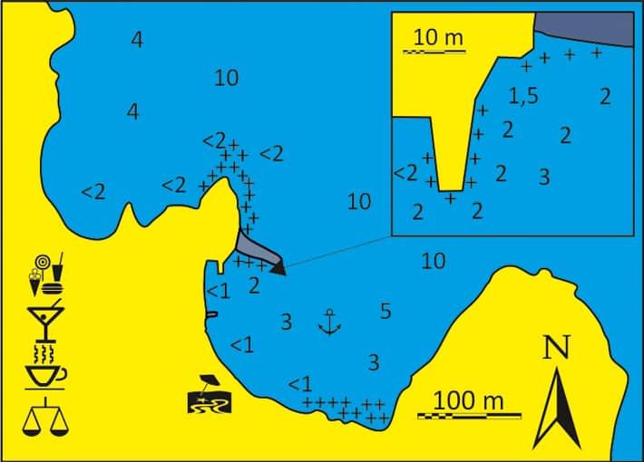 Mapka Zatoka Apollonas na Naxos