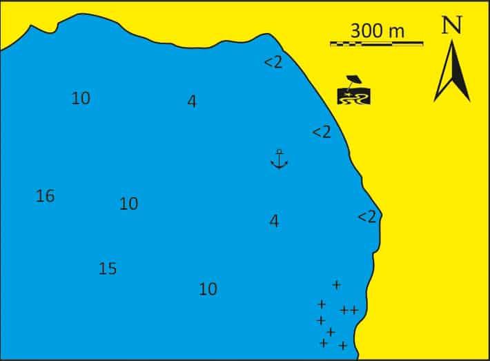 mapka zatoka aghiasau na Naxos