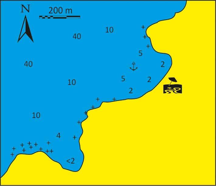 Zatoka Aghios Teodore mapka