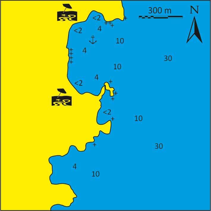 Mapka Klido Naxos