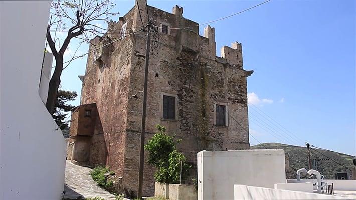wieza obronna na wyspie Naxos