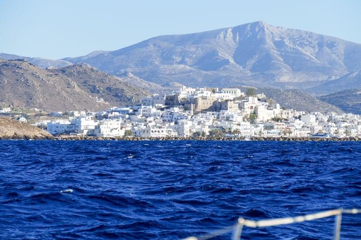 Wpływamy do Naxos