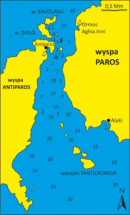 Mapka kanału Antiparou