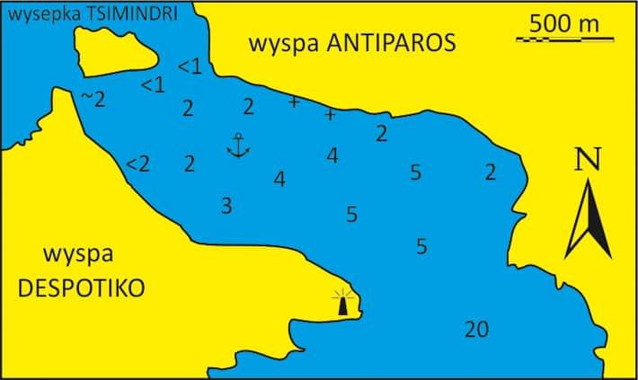 Mapka Zatoka Despotiko