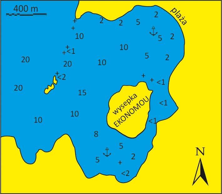 Mapka Zatoki Lagkeri