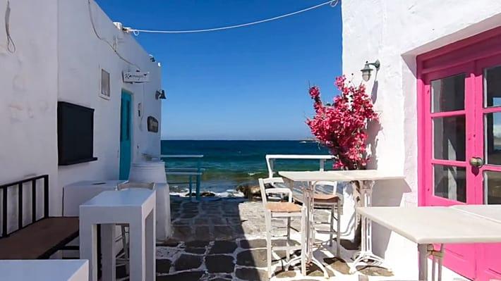 Miejscowosć Naoussa na Paros