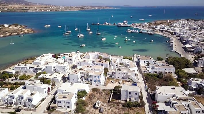 Antiparos port widok z góry