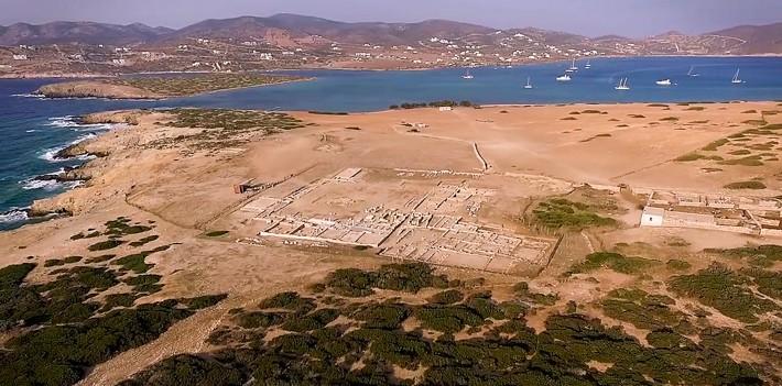 Widok z góry na wysepkę Despotiko