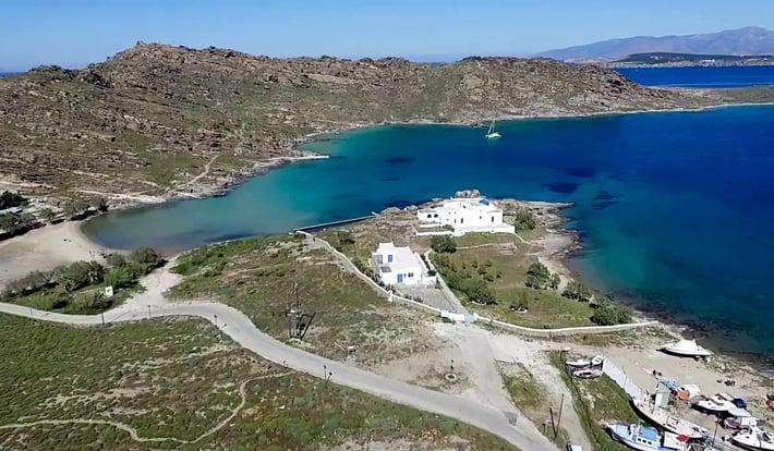 Zatoka Aghios Ioannou - widok z góry.