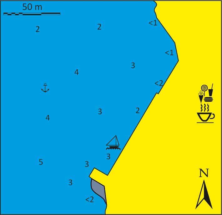 mapka portu Faros na Sifnos