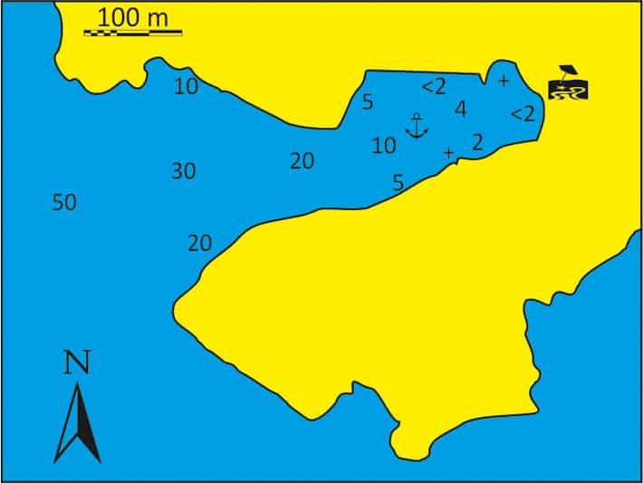 mapka Zatoka Fykiada na Sifnos