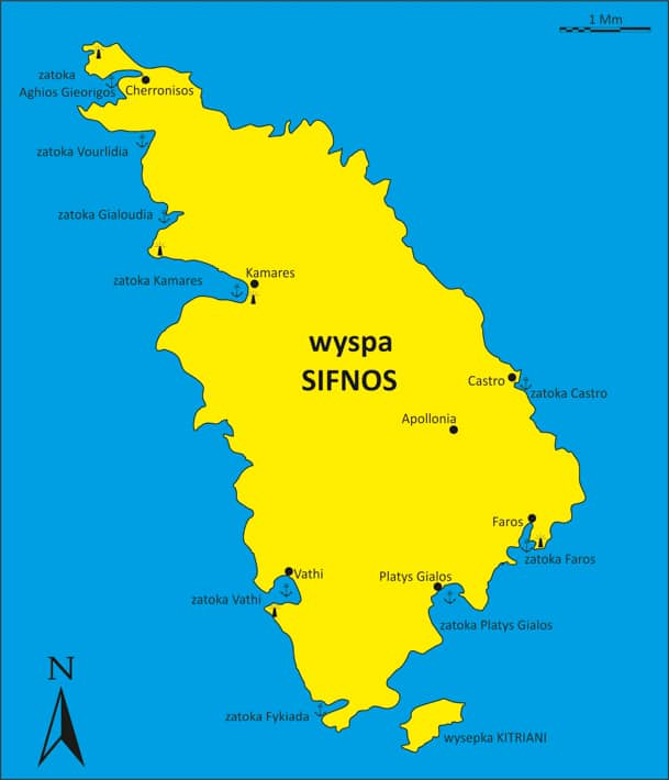 wyspa Sifnos mapka