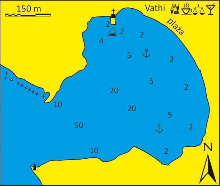 Zatoka Vathi na Sifnos - mapka