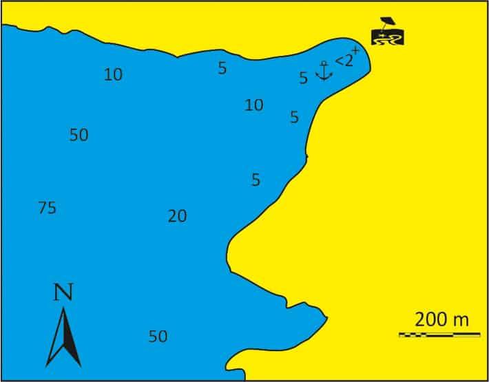 Zatoka Vourlidia na Sifnos mapka