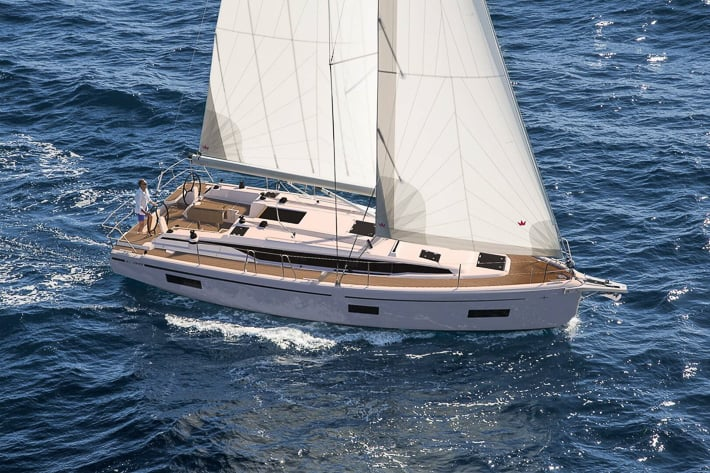 Bavaria C38 na żaglach