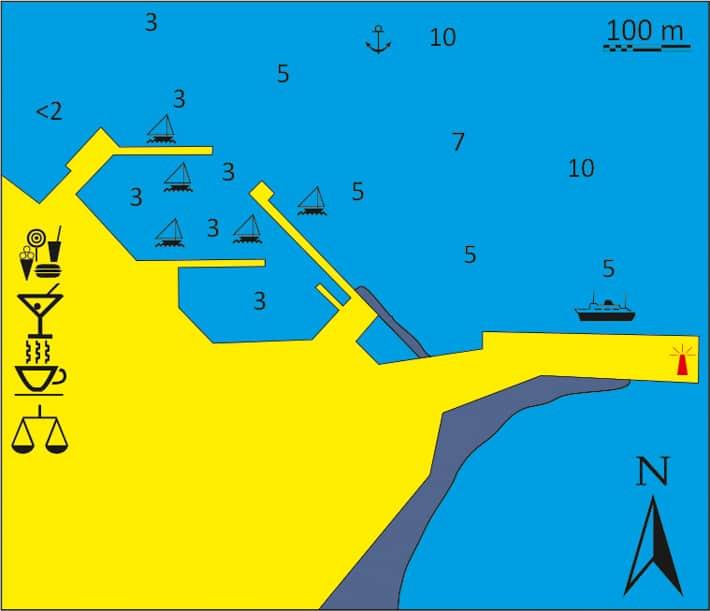 mapka portu Livadhi