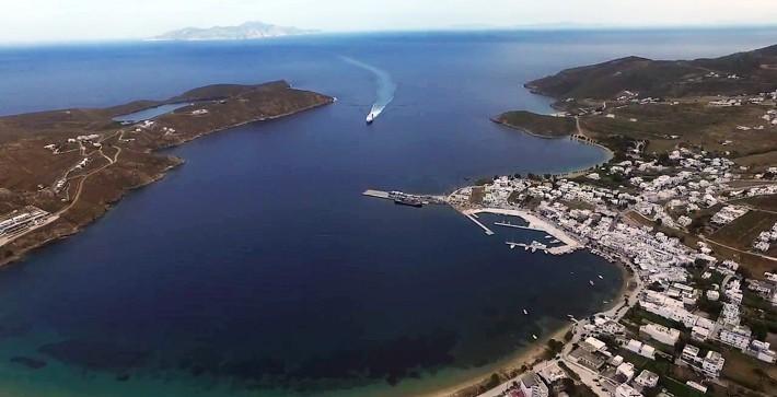 Zatoka Livadhi z góry