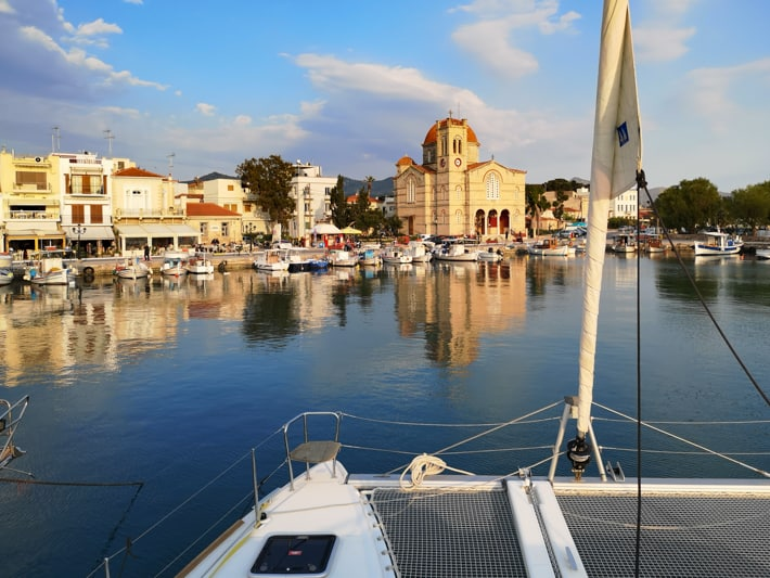 Aegina widok na cerkiew