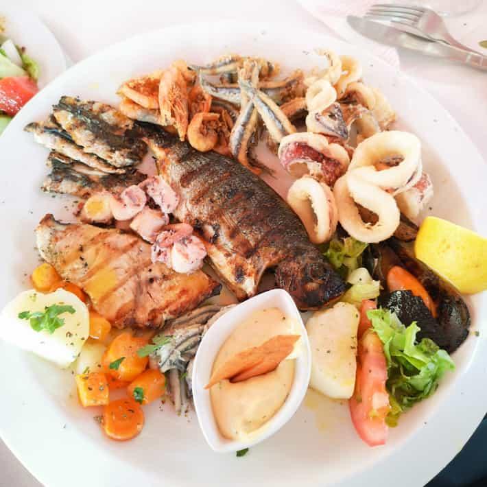 ryba kalmary kuchnia grecka