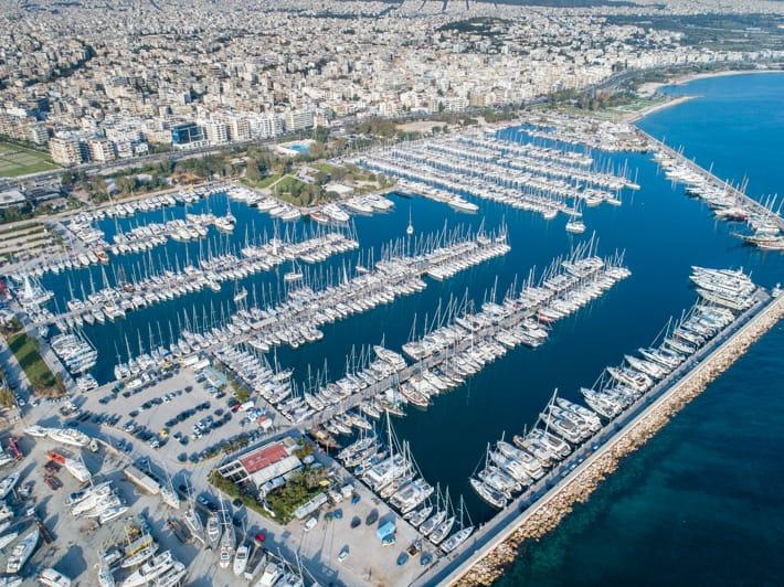 Marina Kalamaki Ateny widok z drona