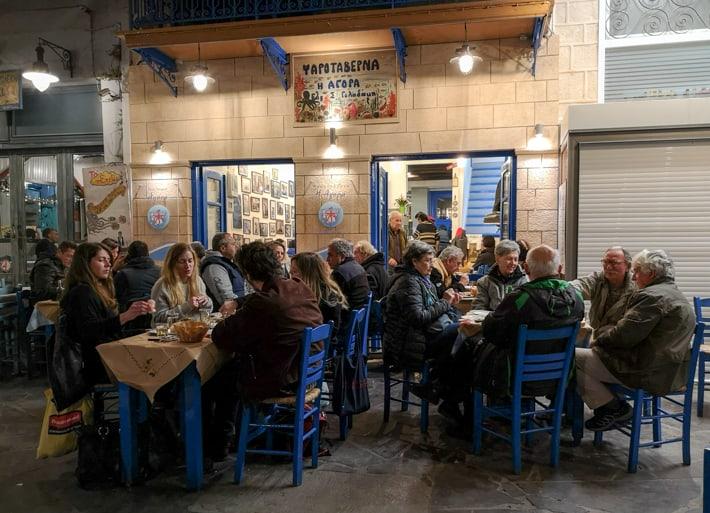 to Agora tawerna na Aeginie