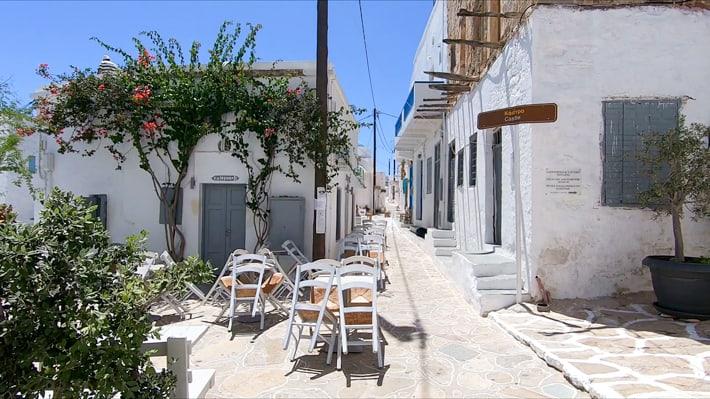 na ulicach Chorio - wyspa Kimolos