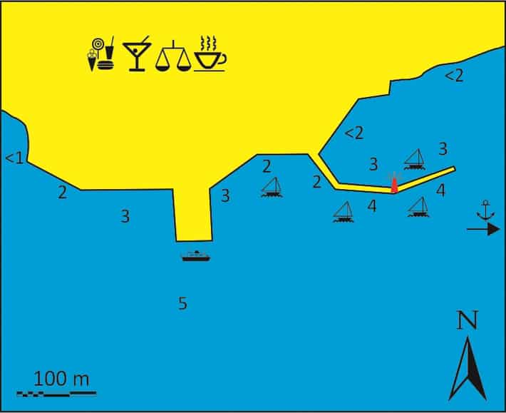Mapka port Adamas