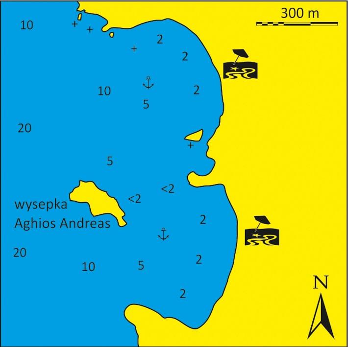 mapka Zatoka Aghios Andreas na Kimolos