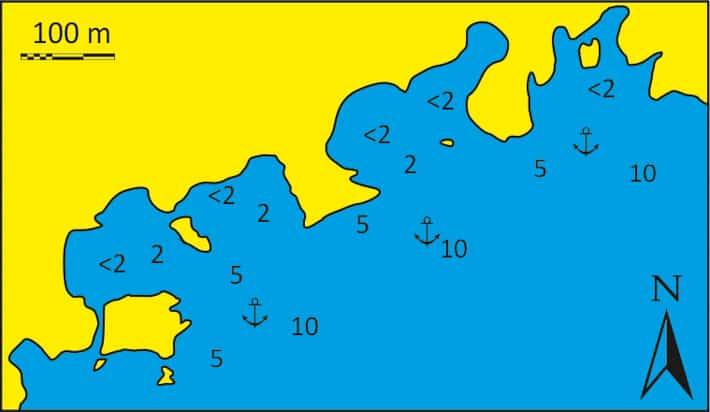 Mapka zatoka Kleftiko
