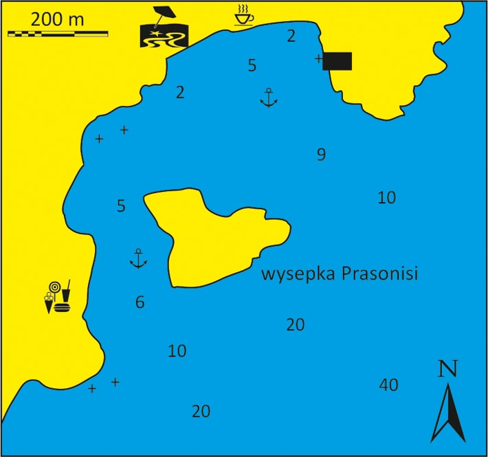 mapka zatoka Parasonisi