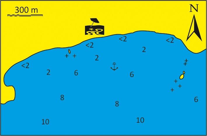 mapka Zatoka Pyrgonisi wyspa Kimolos