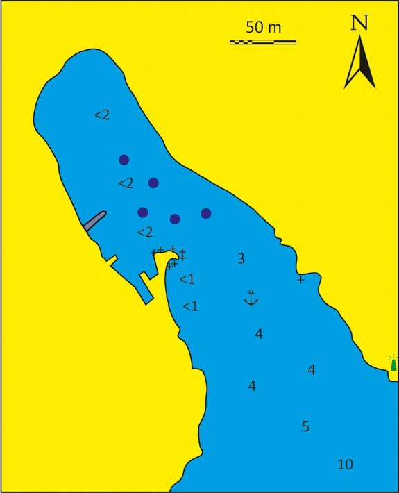 mapka zatoka i port Semina