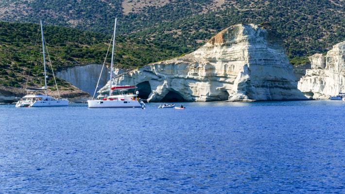 jachty w zatoce Kleftko