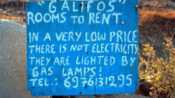 ogłoszenie pensjonatu bez prądu