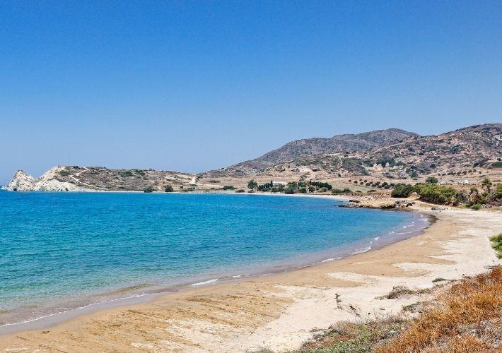 plaża Mavrospilia i zatoka Sikia