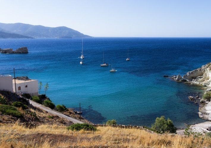 jachty w zatoce Rematos