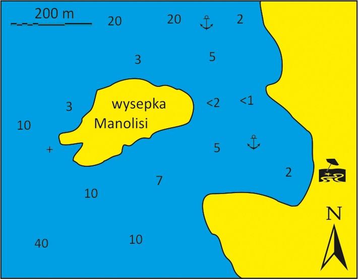 Mapka zatoki Epano Mersini