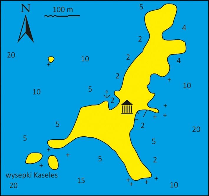 mapka wysepki Aghios Georgios