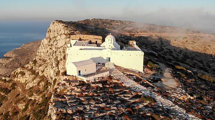 widok z góry klasztor Zoodochas Pigi