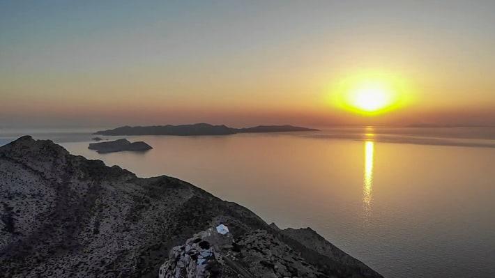 zachód słońca z Sikinos