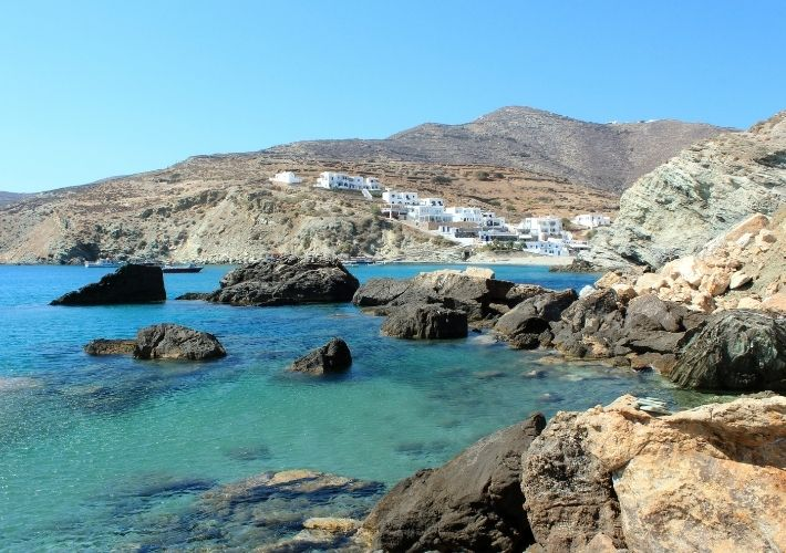 Folegandros wybrzeże
