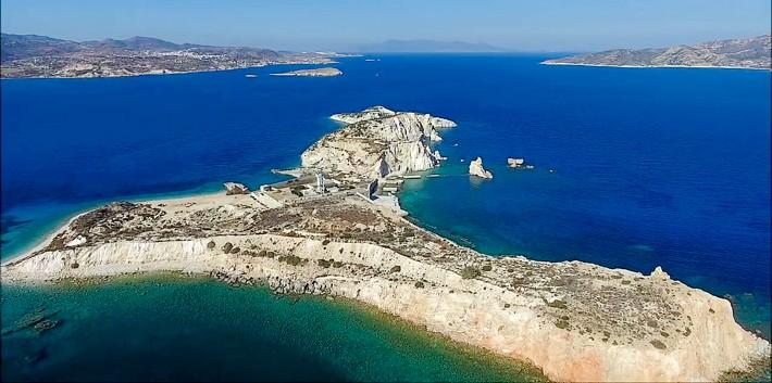 Wyspa Aghios Georgios z powietrza.