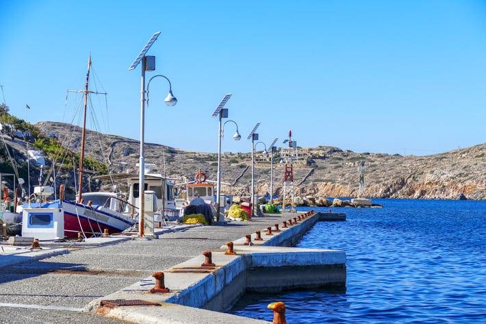 Pirs południowy port Ios