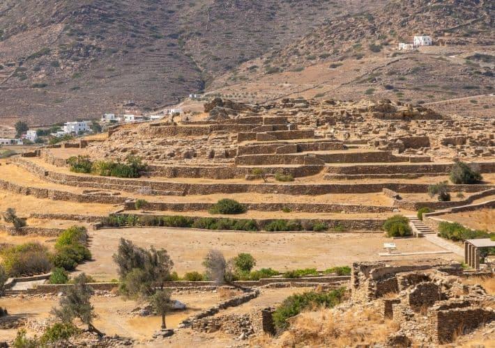 osada Skarkos na Ios